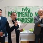 SE Delpini Arcivescovo di MIlano - Luca Tanduo Presidente MVA - G. Gigli Presidente MPV Italiano